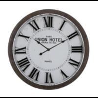 Clock Ø78x7 cm BANBURY white+brown