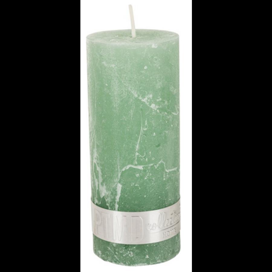 Kaars rustic green 12x5-1