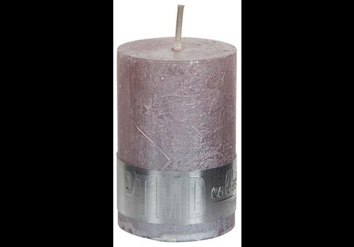 PTMD Kaars metallic zacht roze 6x4