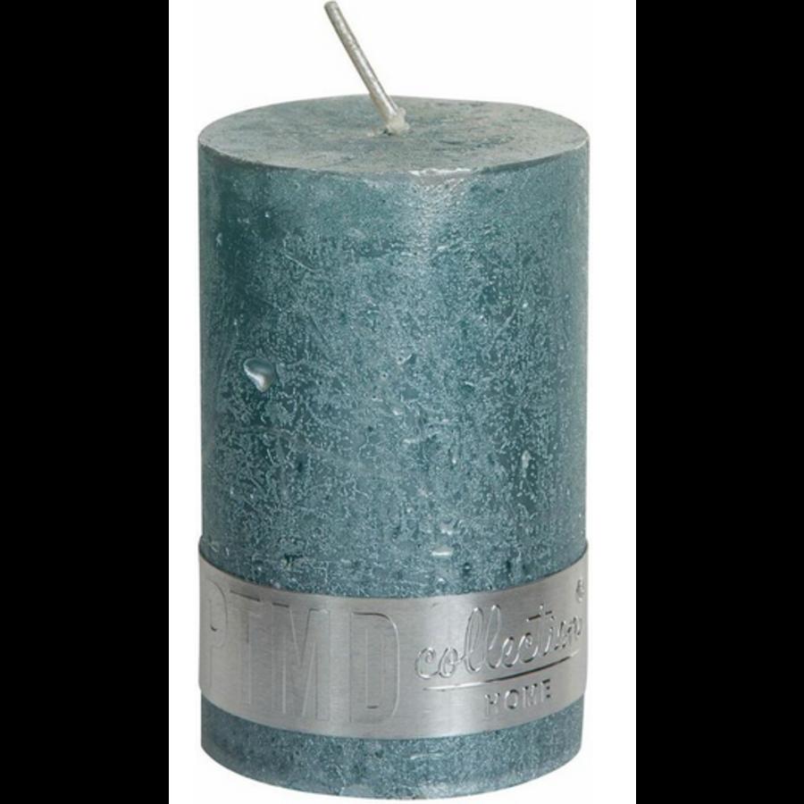 Kaars metallic munt groen 8x5-1