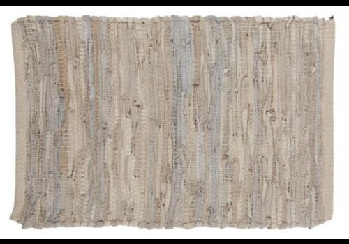 IB LAURSEN Leather placemat light grey