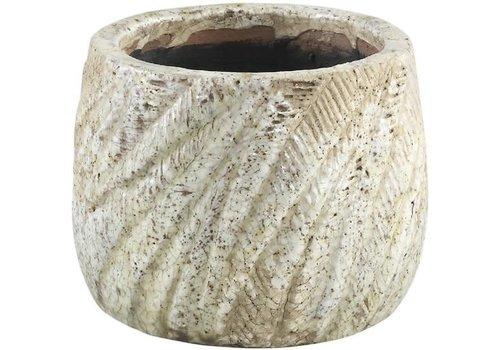 PTMD Vita ceramic palm pot round XS