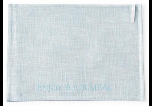 RIVIERA MAISON Enjoy Your Meal Placemat blue