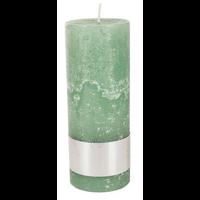 Kaars rustic green 18x7