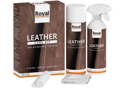 ORANJE FURNITURE CARE Microfibre Leather Care Kit 2x500ml
