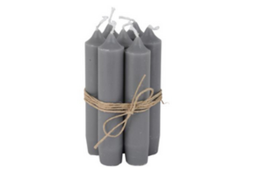 IB LAURSEN Short dinner candle dark grey