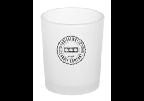 BRIDGEWATER Votive Glass Bridgewater Logo Frost