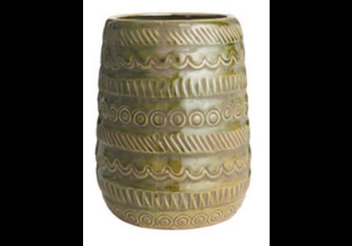 IB LAURSEN Vase pattern Olive