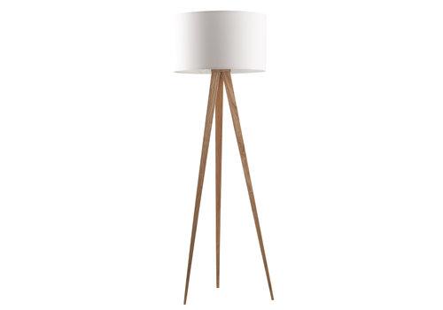 ZUIVER FLOOR LAMP TRIPOD WOOD WHITE