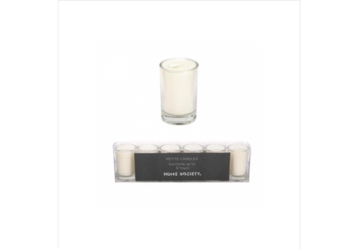 HOME SOCIETY votive candles creme