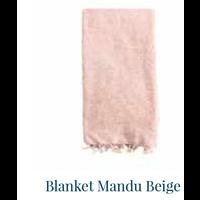 thumb-Blanket Mandu Beige 120cm x 200cm-1