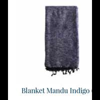 thumb-Blanket Mandu Indigo 120cm x 200cm-2