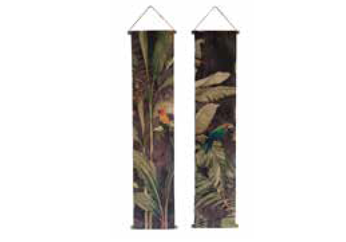 HOME SOCIETY Wall Deco Parrot Set 175cm x 35cm