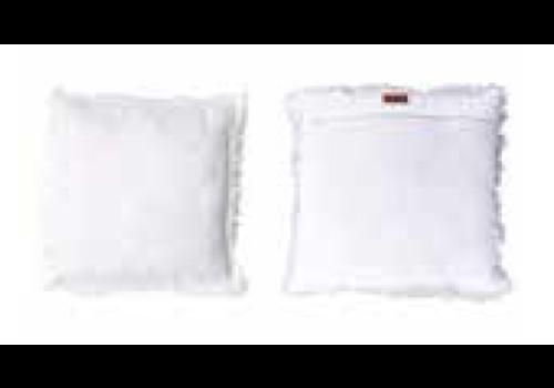 HOME SOCIETY Cushion Zara White