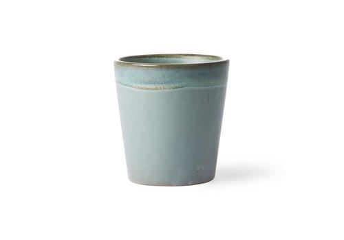 HKLIVING ceramic 70's mug: moss