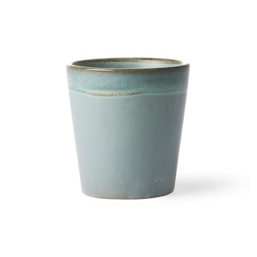 ceramic 70's mug: moss-1