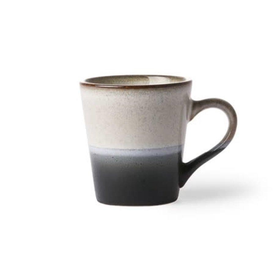ceramic 70's espresso mug: rock-1