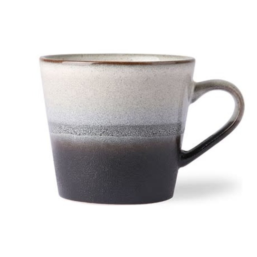 ceramic 70's cappuccino mug: rock-1