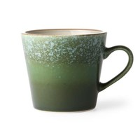 ceramic 70's cappuccino mug: grass