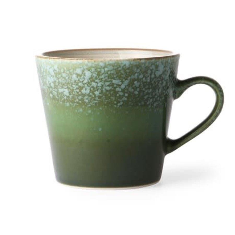 ceramic 70's cappuccino mug: grass-1