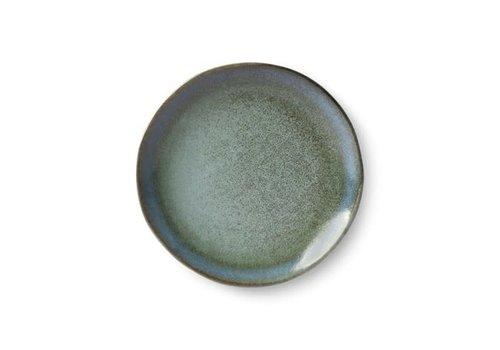 HKLIVING ceramic 70's dessert plate: moss