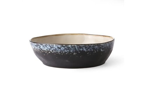 HKLIVING ceramic 70's pasta bowl: galaxy
