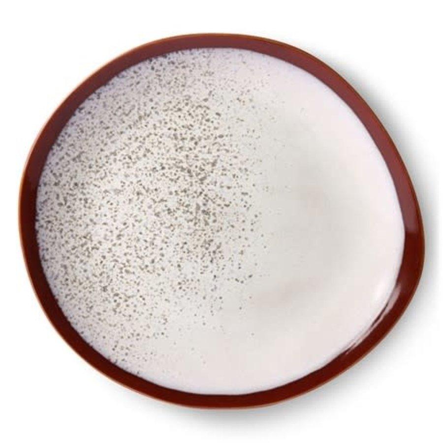 ceramic 70's dinner plate: frost ace6869-1