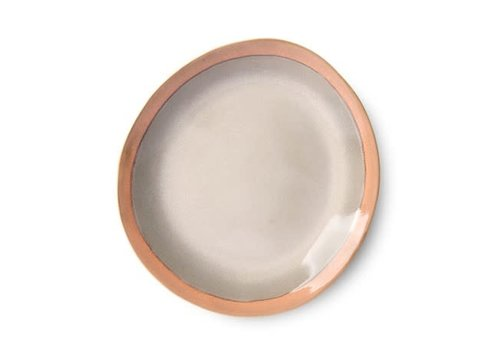 HKLIVING ceramic 70's side plate: earth