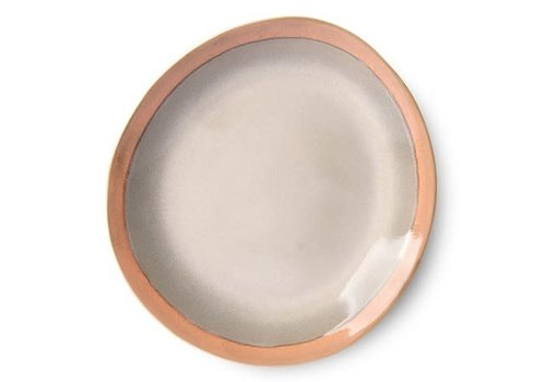 HKLIVING ceramic 70's dinner plate: earth ace6872