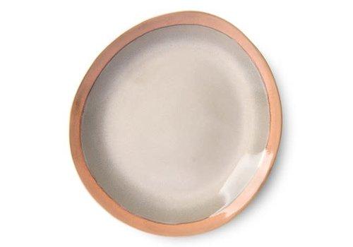 HKLIVING ceramic 70's dinner plate: earth