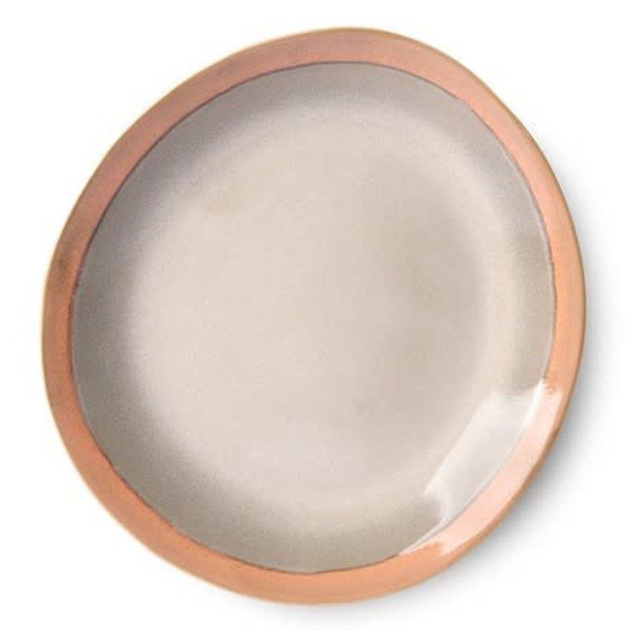 ceramic 70's dinner plate: earth-1
