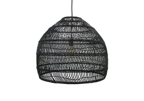 HKLIVING wicker hanging lamp ball black M