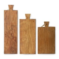 breadboard teak set of 3