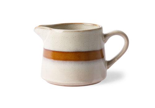 HKLIVING ceramic 70's creamer: snow