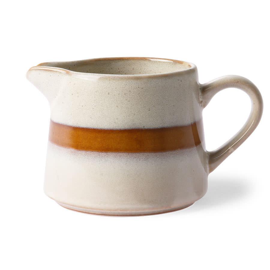 ceramic 70's creamer: snow-1