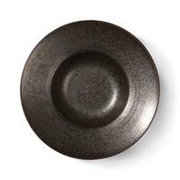 Kyoto ceramics: rustic pasta plate black
