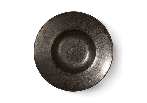HKLIVING Kyoto ceramics: rustic pasta plate black