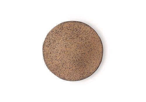 HKLIVING gradient ceramics: side plate taupe ace6899