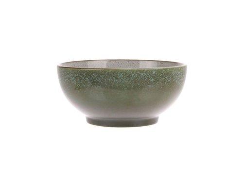 HKLIVING ceramic 70's salade bowl M: grass