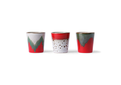 HKLIVING ceramic 70's mugs: the christmas t(h)ree