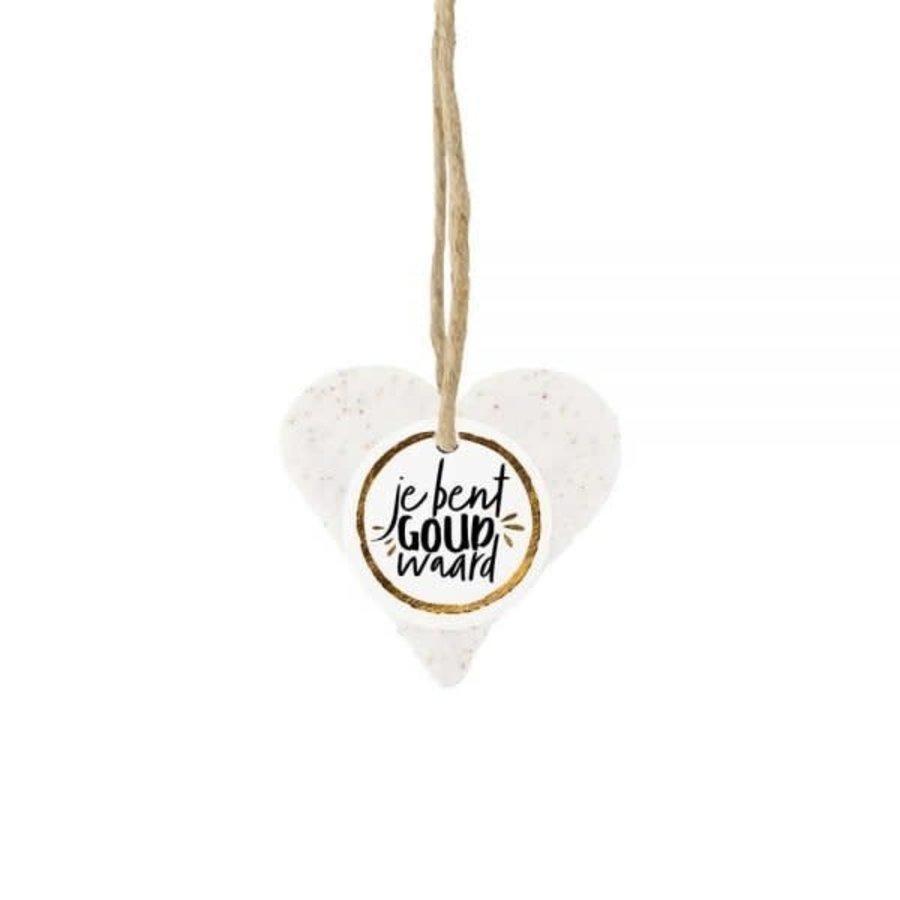 Cadeauzeep hart - Je bent goud waard-1
