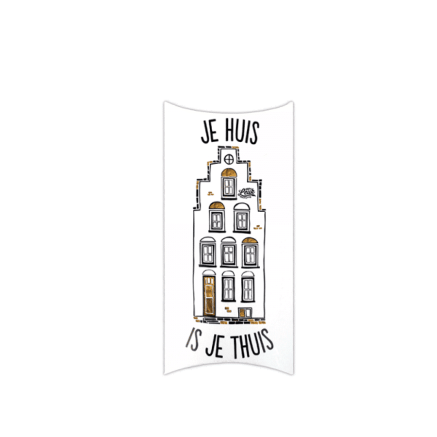 Kadodoosje gevelzeep - Je huis is je thuis-1