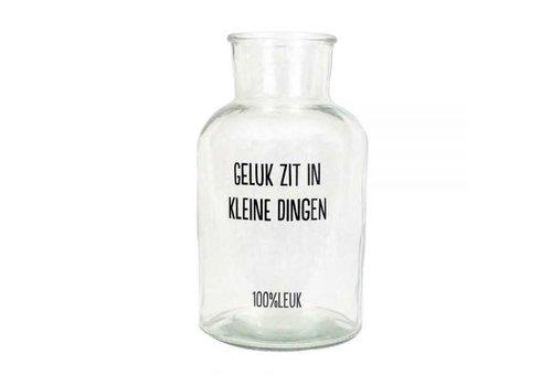 100%LEUK Glazen pot - Het zijn de kleine dingen
