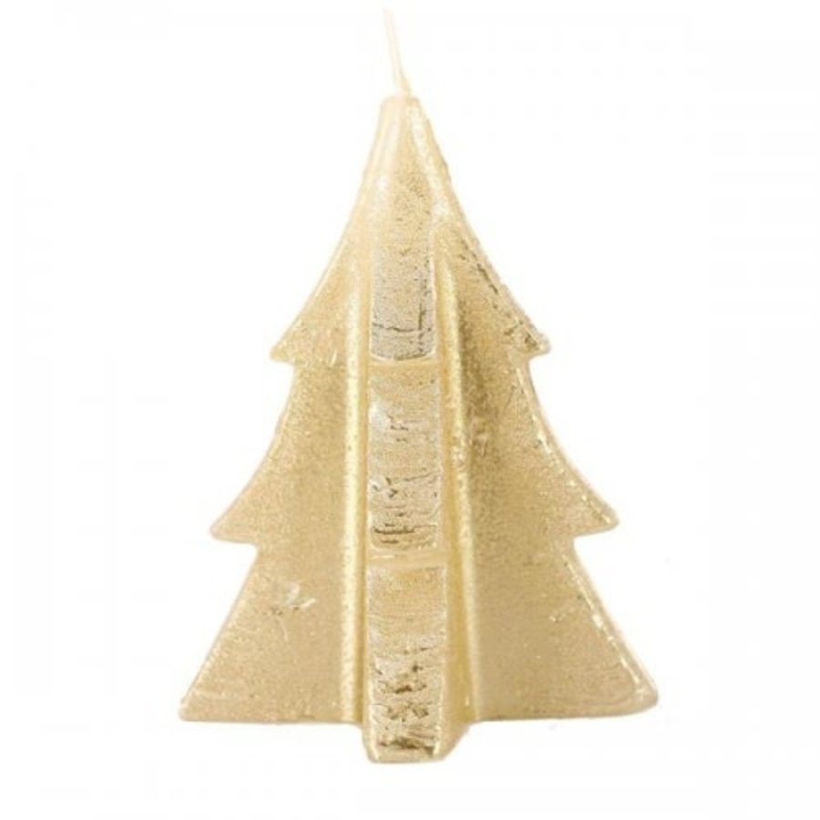 Tree Candle Gold-1