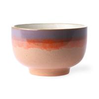 ceramic 70's noodle bowl: sunset