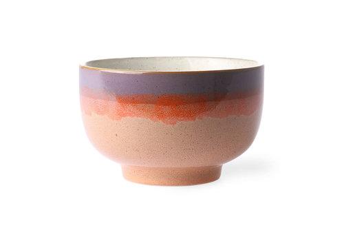 HKLIVING ceramic 70's noodle bowl: sunset