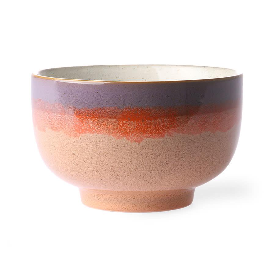 ceramic 70's noodle bowl: sunset-1