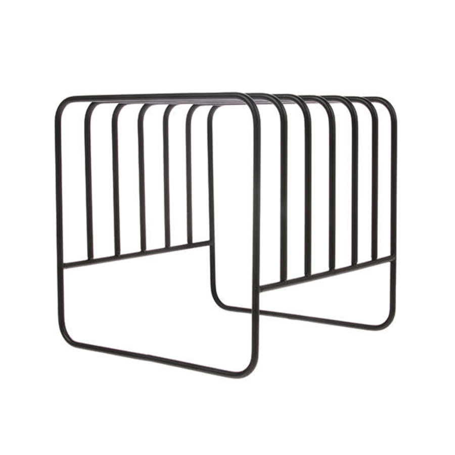 metal wire plate rack matt black-1