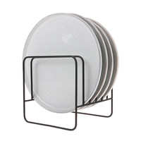 thumb-metal wire plate rack matt black-2