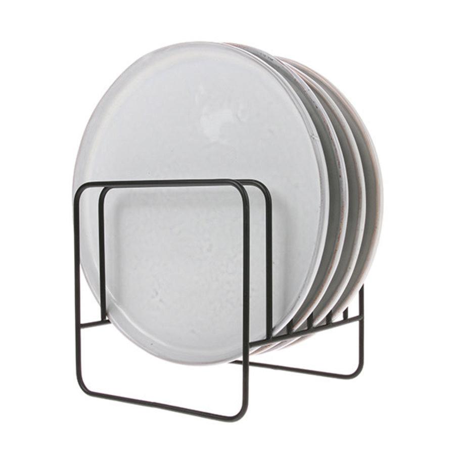 metal wire plate rack matt black-2